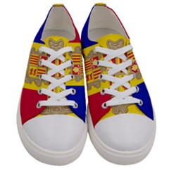 National Flag Of Andorra  Women s Low Top Canvas Sneakers