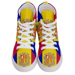 National Flag Of Andorra  Men s Hi Top Skate Sneakers