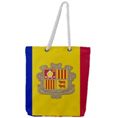National Flag Of Andorra  Full Print Rope Handle Tote (large)