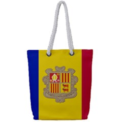 National Flag Of Andorra  Full Print Rope Handle Tote (small)