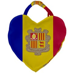 National Flag Of Andorra  Giant Heart Shaped Tote