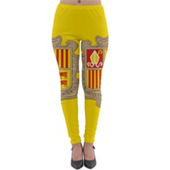 National Flag Of Andorra  Lightweight Velour Leggings