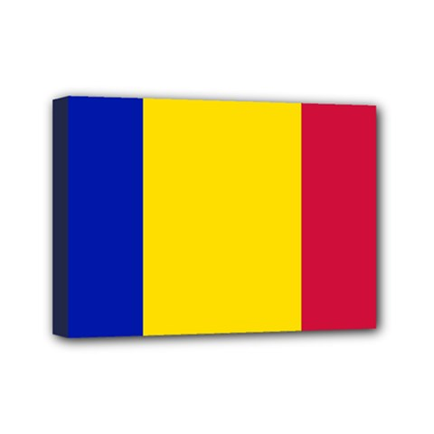 Civil Flag Of Andorra Mini Canvas 7  X 5