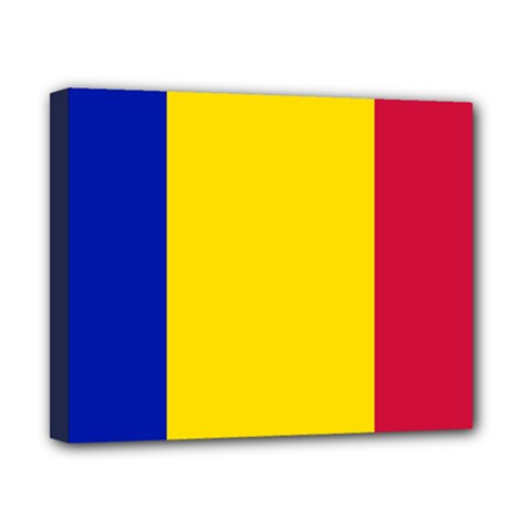 Civil Flag Of Andorra Canvas 10  X 8