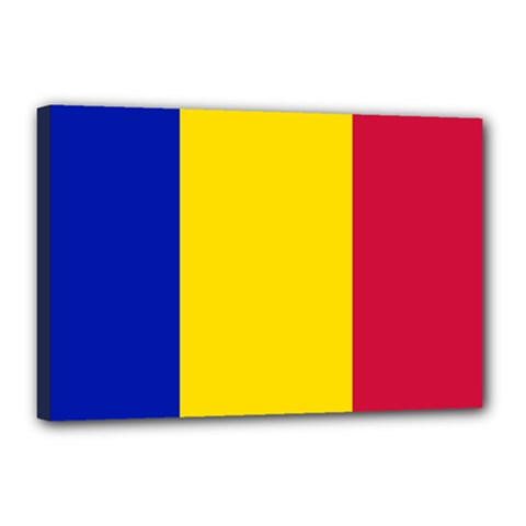 Civil Flag Of Andorra Canvas 18  X 12