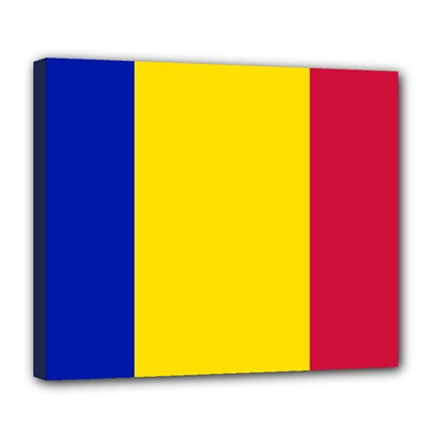 Civil Flag Of Andorra Deluxe Canvas 24  X 20