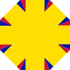 Civil Flag Of Andorra Hook Handle Umbrellas (large)