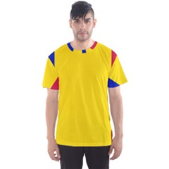 Civil Flag Of Andorra Men s Sports Mesh Tee