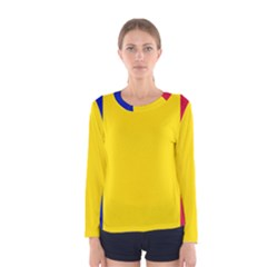 Civil Flag Of Andorra Women s Long Sleeve Tee