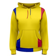 Civil Flag Of Andorra Women s Pullover Hoodie