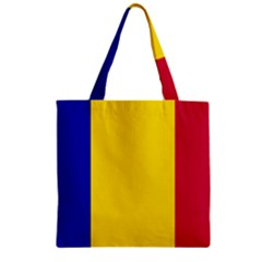 Civil Flag Of Andorra Zipper Grocery Tote Bag