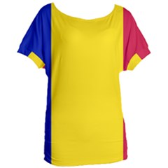 Civil Flag Of Andorra Women s Oversized Tee