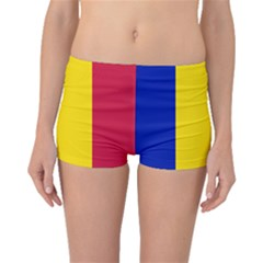 Civil Flag Of Andorra Boyleg Bikini Bottoms