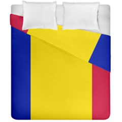 Civil Flag Of Andorra Duvet Cover Double Side (california King Size)
