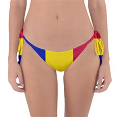 Civil Flag Of Andorra Reversible Bikini Bottom