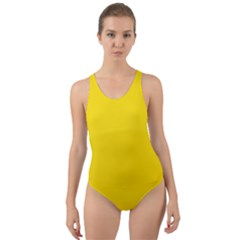 Civil Flag Of Andorra Cut Out Back One Piece Swimsuit