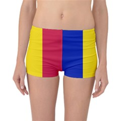 Civil Flag Of Andorra Reversible Boyleg Bikini Bottoms
