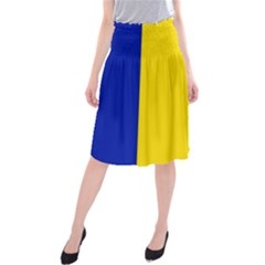 Civil Flag Of Andorra Midi Beach Skirt