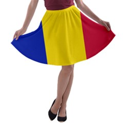 Civil Flag Of Andorra A Line Skater Skirt