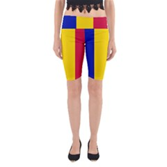 Civil Flag Of Andorra Yoga Cropped Leggings