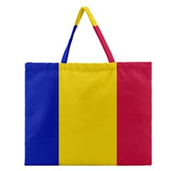 Civil Flag Of Andorra Zipper Large Tote Bag