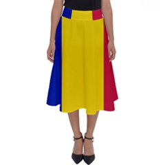 Civil Flag Of Andorra Perfect Length Midi Skirt