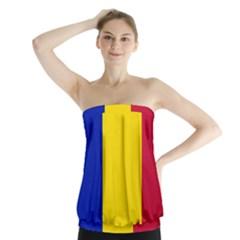 Civil Flag Of Andorra Strapless Top