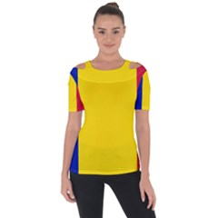 Civil Flag Of Andorra Short Sleeve Top