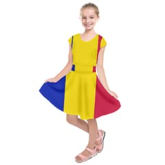 Civil Flag Of Andorra Kids  Short Sleeve Dress
