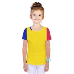 Civil Flag Of Andorra Kids  One Piece Tee