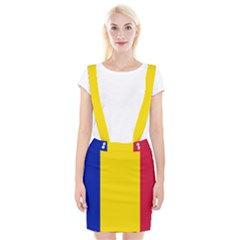 Civil Flag Of Andorra Braces Suspender Skirt