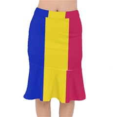 Civil Flag Of Andorra Mermaid Skirt