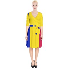 Civil Flag Of Andorra Wrap Up Cocktail Dress