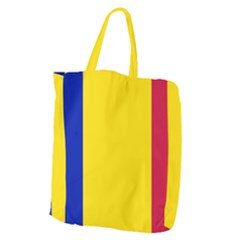 Civil Flag Of Andorra Giant Grocery Zipper Tote