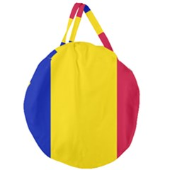Civil Flag Of Andorra Giant Round Zipper Tote