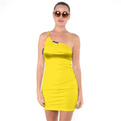 Civil Flag Of Andorra One Soulder Bodycon Dress