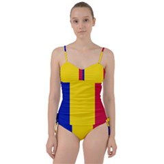 Civil Flag Of Andorra Sweetheart Tankini Set