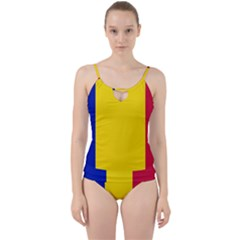 Civil Flag Of Andorra Cut Out Top Tankini Set