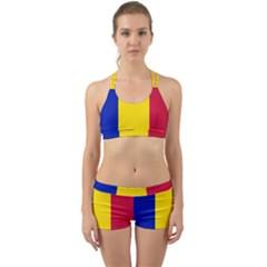 Civil Flag Of Andorra Back Web Gym Set