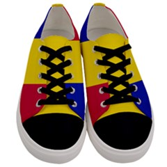 Civil Flag Of Andorra Men s Low Top Canvas Sneakers