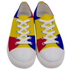 Civil Flag Of Andorra Women s Low Top Canvas Sneakers