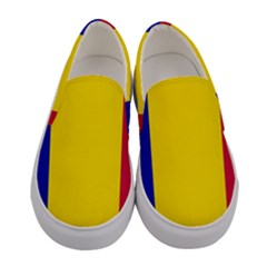 Civil Flag Of Andorra Women s Canvas Slip Ons