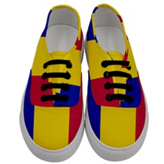Civil Flag Of Andorra Men s Classic Low Top Sneakers