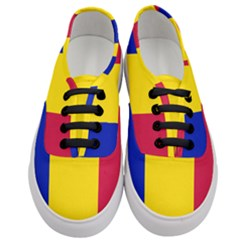 Civil Flag Of Andorra Women s Classic Low Top Sneakers