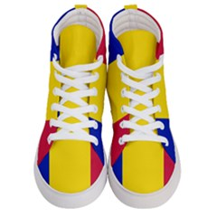 Civil Flag Of Andorra Women s Hi Top Skate Sneakers