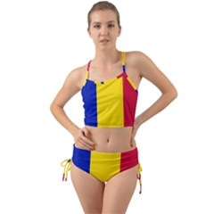 Civil Flag Of Andorra Mini Tank Bikini Set