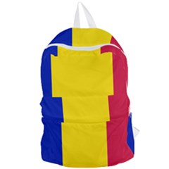 Civil Flag Of Andorra Foldable Lightweight Backpack