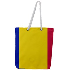 Civil Flag Of Andorra Full Print Rope Handle Tote (large)
