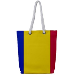 Civil Flag Of Andorra Full Print Rope Handle Tote (small)
