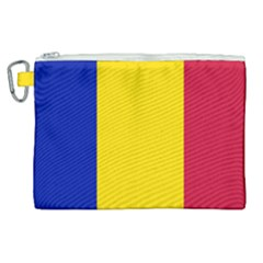 Civil Flag Of Andorra Canvas Cosmetic Bag (xl)